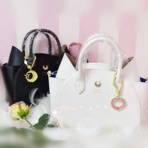 sailor moon merch luna and Artemis hand bags