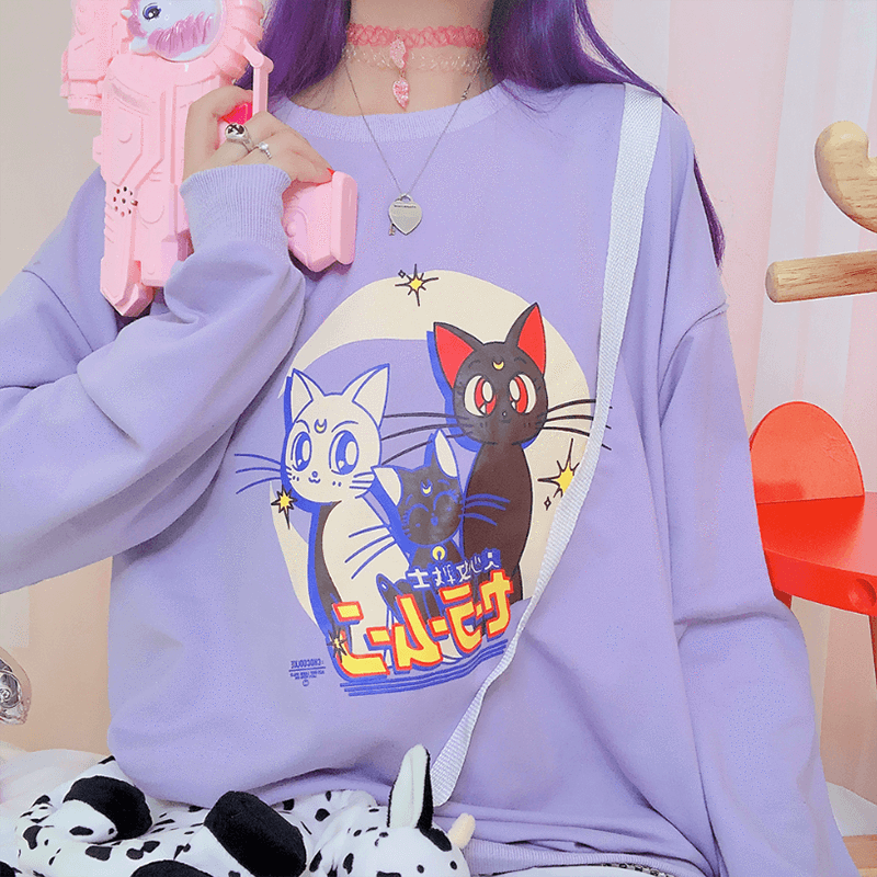 Japanese Sailor Moon Hoodie Sweathsirt
