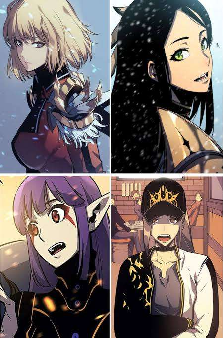 Solo Leveling Webtoon characters some of cute girls Hae-In Cha Esil Radiru Soo-Hyun Yoo Park Hee-Jin