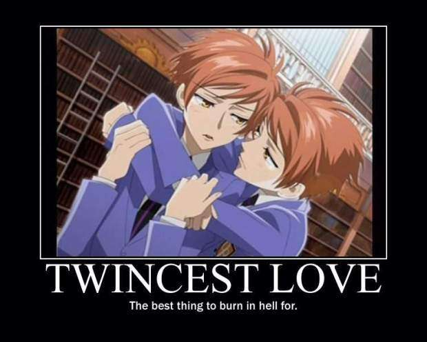 twincest ouran high school host club. being an anime fan in the real world is tough