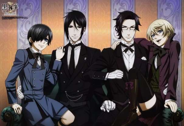 Black Butler-sebastian-ciel-william t.-other boy-bishounen-anime