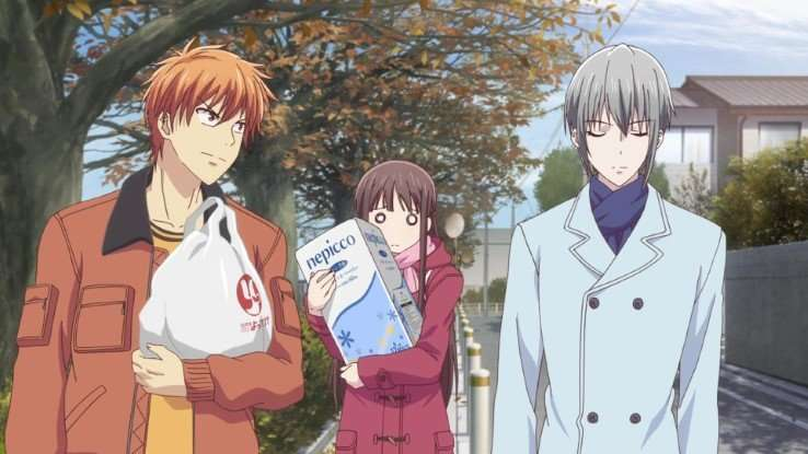 Fruits Basket kyou-tooru-yuki walking together