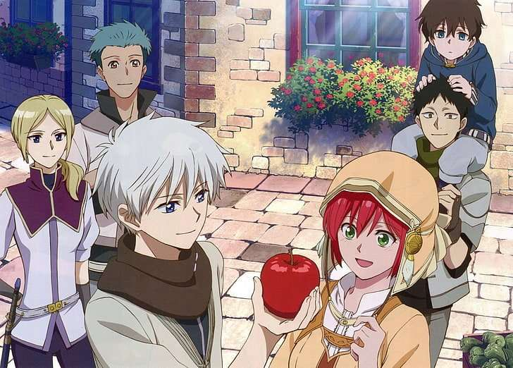 anime-snow-white-with-the-red-hair-kiki-seiran-mitsuhide-rouen-Akagami no Shirayuki-hime